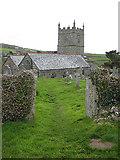SW4538 : St Senara's Church, Zennor by Pauline E
