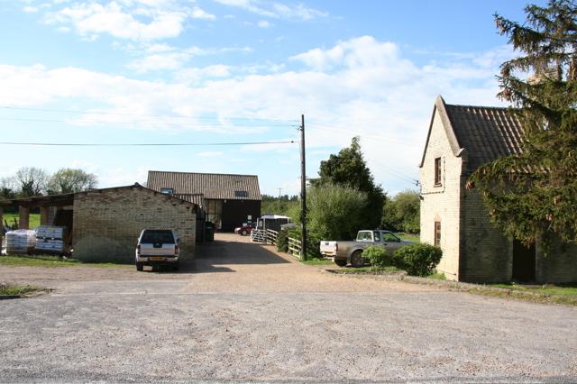 Farmyard marked as Moor Barn