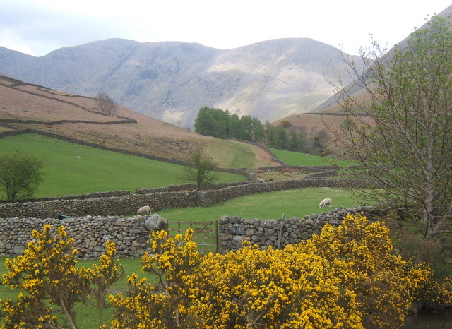 Mosedale from the packhorse bridge at Wasdale Head