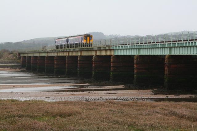 Train Crossing Eskmeals Viaduct