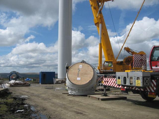 Turbine Tower No 11 construction site