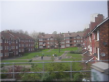 SP0887 : Flats seen from the railway by Row17