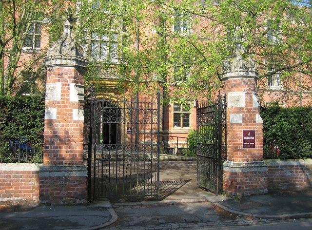 Gate entrance to Ridley Hall