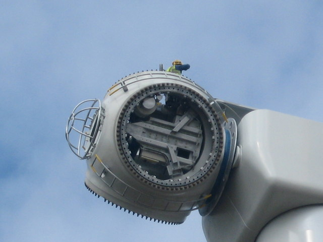 Hub secured to Turbine Tower No 11