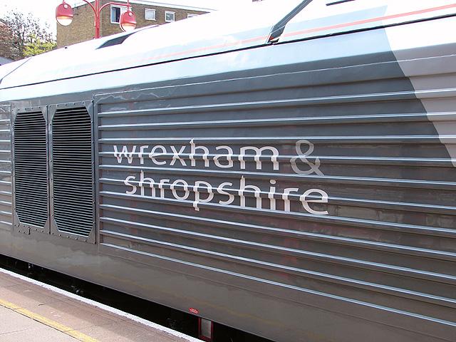 Wrexham & Shropshire Railway locomotive branding