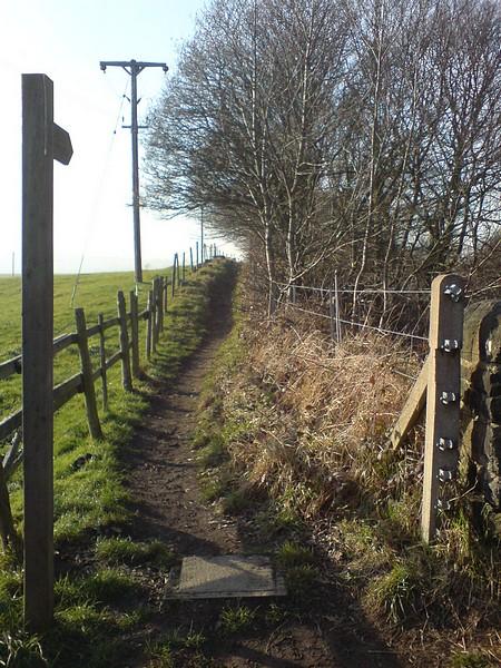 Footpath by Newlay railway bridge
