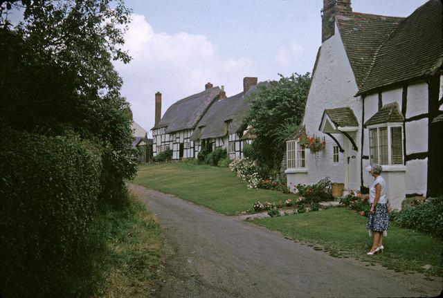 Boat Lane, Welford on Avon, Warwickshire taken 1964
