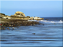 TA4115 : Old Military Defences on Kilnsea Beach by Andy Beecroft