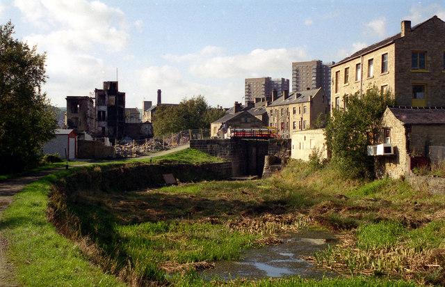 Rochdale Canal below Lock No 2, Sowerby Bridge