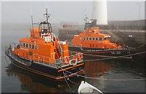 J5980 : Two lifeboats at Donaghadee (2) by Albert Bridge