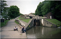 SE1039 : Bingley Five Rise Locks, Leeds and Liverpool Canal by Dr Neil Clifton