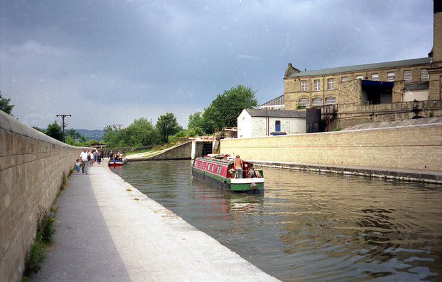 Below Bingley Three Rise Locks, Leeds and Liverpool Canal, Bingley