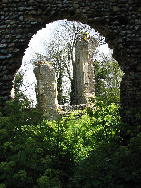 The ruins of St Mary's Priory