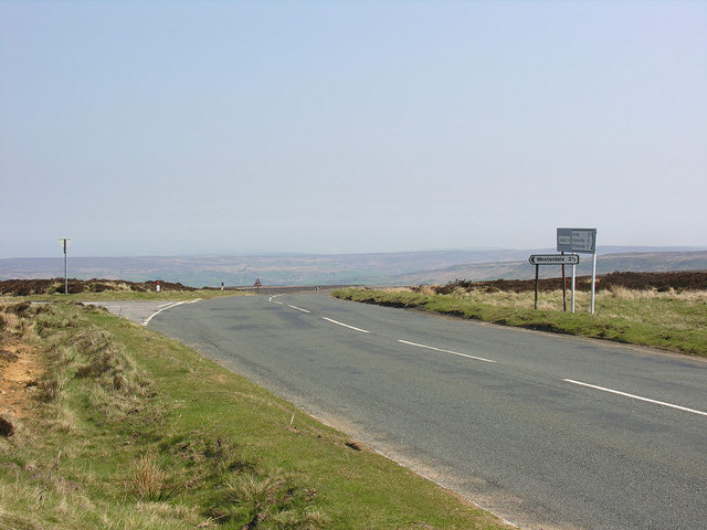 Road junction by Ralph's Cross