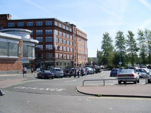 Across the car park behind St Enoch Centre