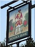 TL8364 : Minden Rose sign by Keith Evans