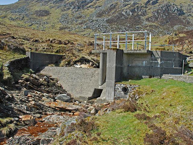 Hydro intake on the Allt na Ceardaich
