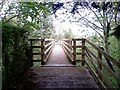 SP0238 : Wooden Foot Bridge by John Carver