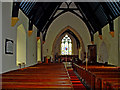 SN0717 : Parish Church: Llawhaden: interior by Dylan Moore