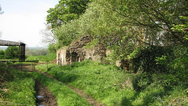 Derelict farm building