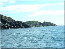 SH1824 : The coastline of the Gwylans by David Medcalf
