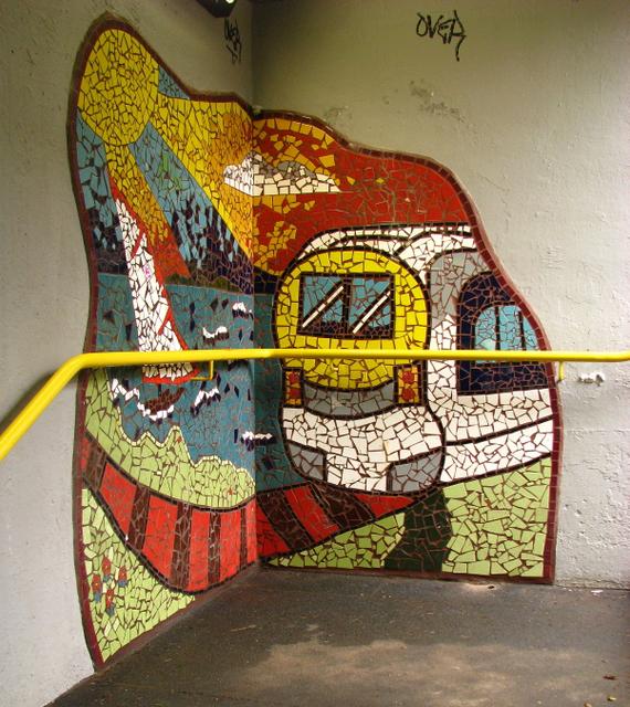 Mural, Carnalea railway halt [3]