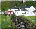 NN9557 : Edradour Burn at the distillery by Russel Wills