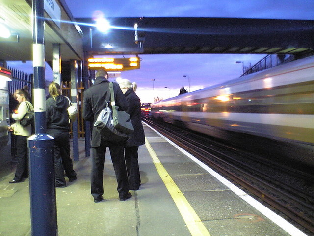 Early morning at Slade Green Station