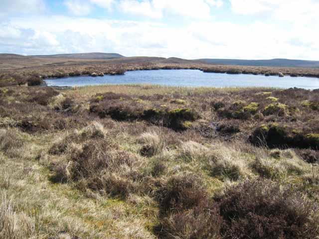 Moorland pond below Bencroy