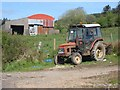 G9017 : Tractor and barn in the Arigna valley by Oliver Dixon