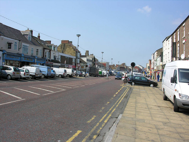 High Street from the east