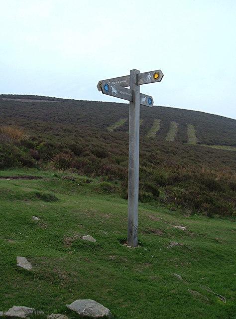 Signpost below Moel Famau