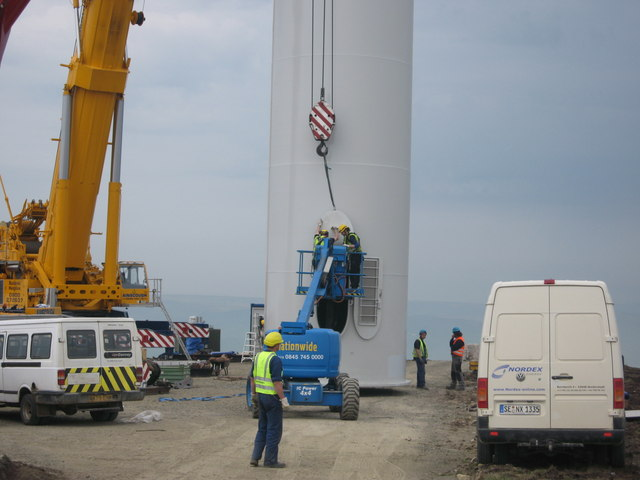 Turbine Tower No 24 during construction in May 2008