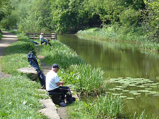 Fishing on the Fairbottom Branch Canal