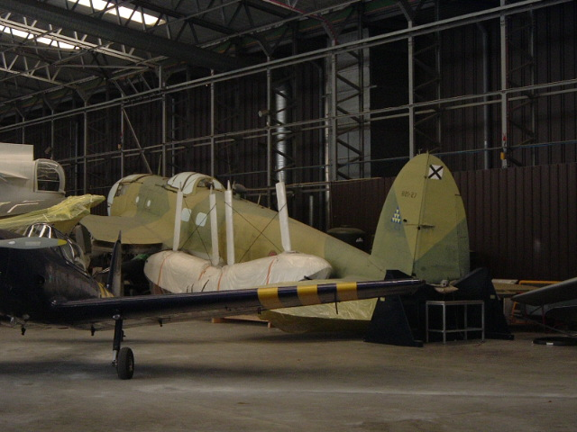 Heinkel He-111 in Duxford shop