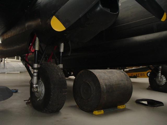 Upkeep bouncing bomb below Lancaster