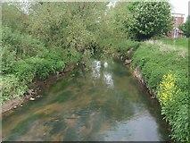 SO8483 : River Stour upstream at Kinver Bridge by John M