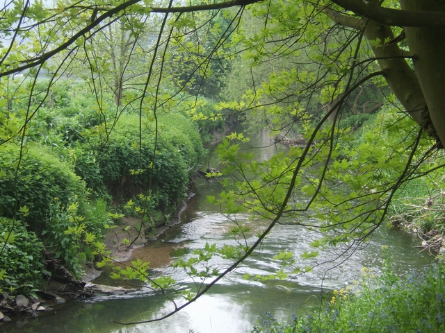 River Stour behind Kinver High Street