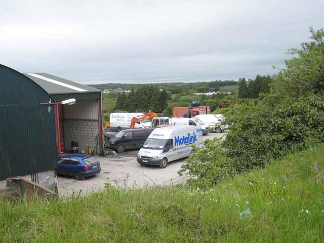 Motor workshop at Derrypark, Boyle