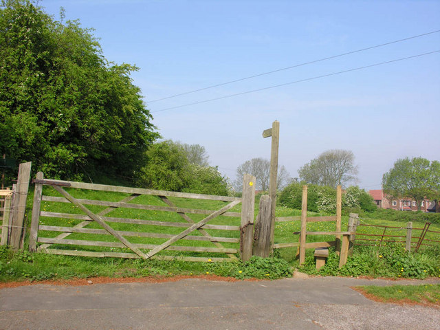 Footpath and stile, Whitton