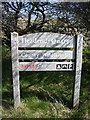 NY2440 : Headend Quarry, Sign by Alexander P Kapp