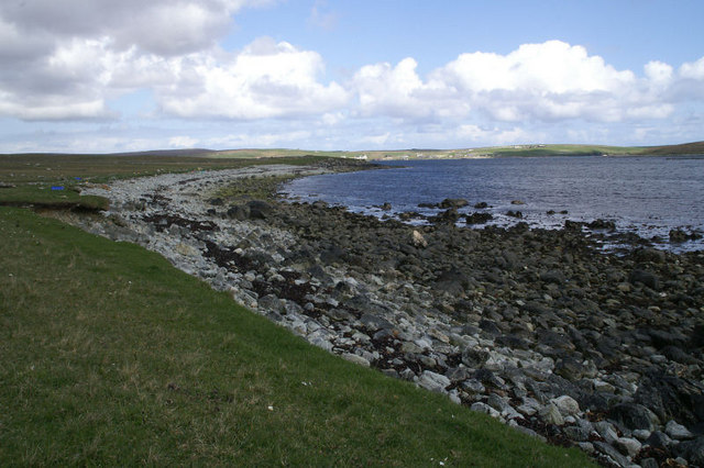 Coastline north of Point of Burkwell