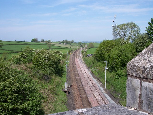 West Coast Main Line at Rowell