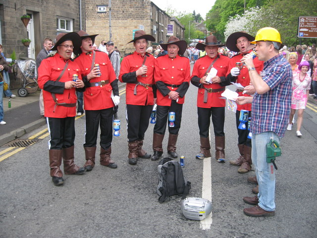 Canadian Mounted Police in Uppermill