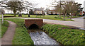 SE9229 : The beck and the village green, Ellerker by Peter Church