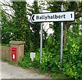 J6362 : Sign and postbox, Glastry by Rossographer