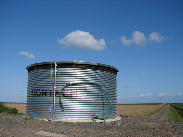Water Storage Tank and Track Across Outer Marsh