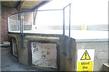 SZ6397 : Spit Sand Fort, gun emplacement by Graham Horn