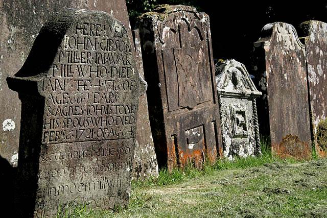 Old headstones at Westerkirk Parish Churchyard