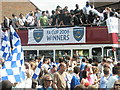 SZ6499 : Proud players and fans celebrate an historic day. by Basher Eyre